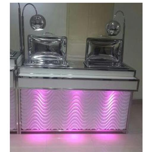 Stainless Steel Metallic Silver Catering Counter