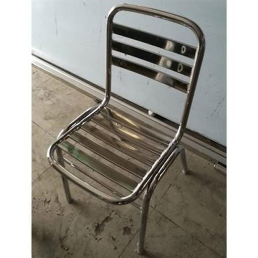 Stainless Steel Polished SS Dining Chair, For Hotel