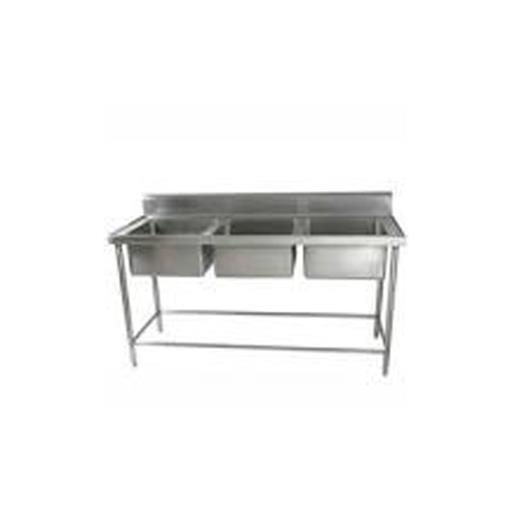 Stainless Steel Three Commercial Sink