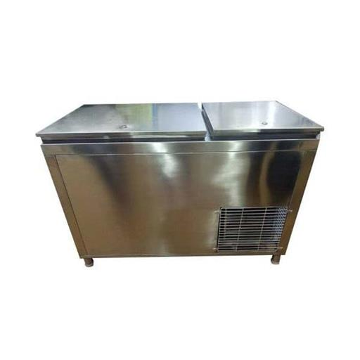 Stainless Steel double door Commercial Under counter Refrigerator, Electricity