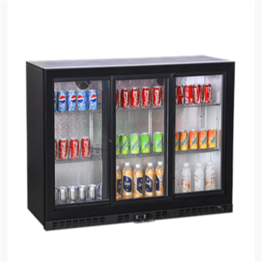 Black 3 Door Back Bar Cooler, Capacity: 35L