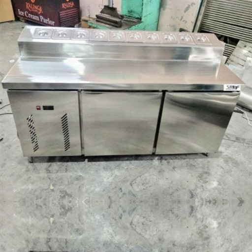 Stainless Steel Rectangular Pizza Makeline Counter