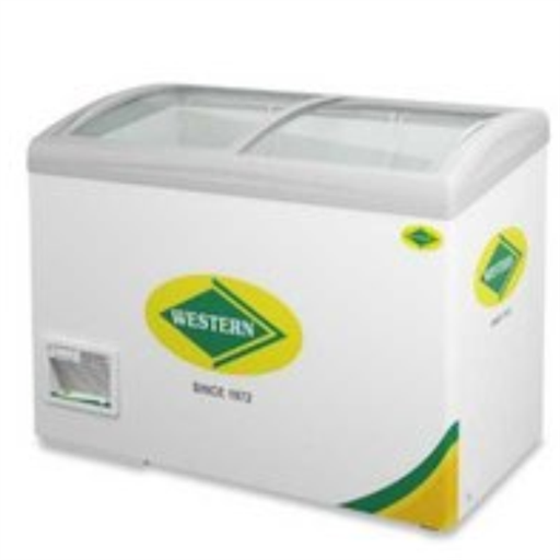 Deep Freezer 316Ltr Curved Glass Top Western