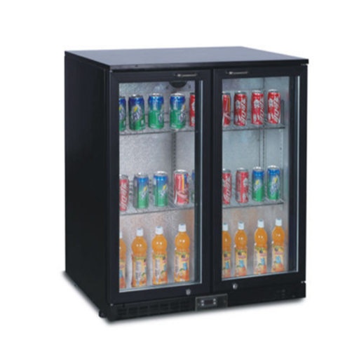 Black Powder Coated Back Bar Cooler