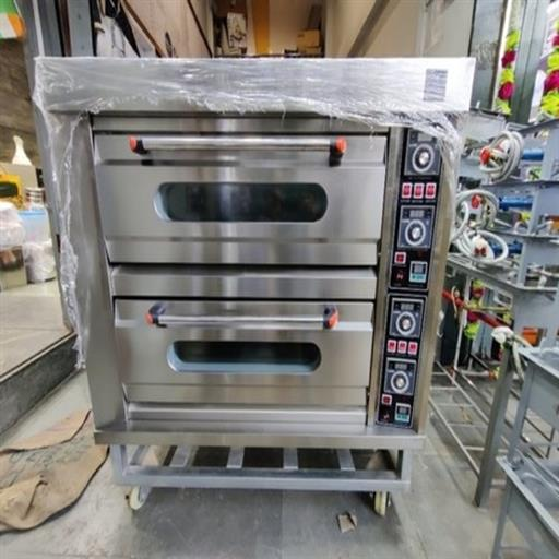 Stainless Steel Double Deck Oven 4 Tray Bakery Oven, 3 Phase