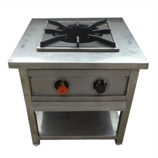 Stainless Steel Single Burner Cooking Range