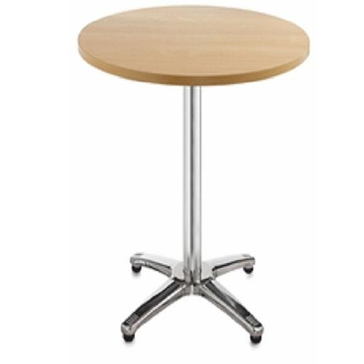 Wooden,Ss Round Canteen Standing Table, Seating Capacity: 1 Seater